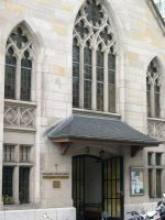 The Library entrance on rue de Monthoux